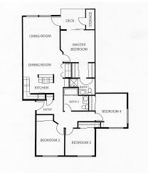four bedroom floor plans home planning ideas 2017