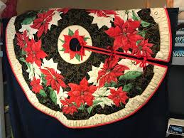 quilted poinsettia tree skirt quilted tree