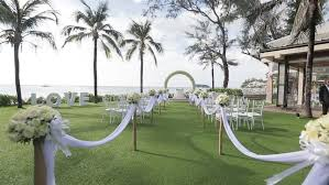 Wedding Aisle Ideas Wedding Set Up In Garden Park Outside Wedding Ceremony