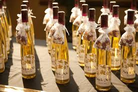 wine bottle favors wine bottle wedding favors