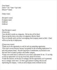 sample one day resignation letter 5 examples in pdf word