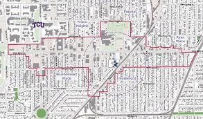 tcu parking map tod planning studies nctcog org