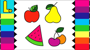 baby drawings fruits coloring pages for kids youtube