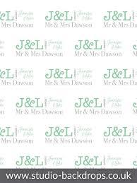 personalised wedding backdrop uk personalised green names wedding photography backdrop bd 253 wed