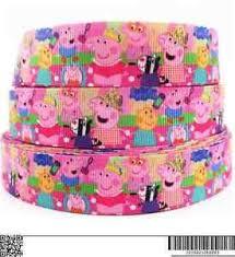 peppa pig ribbon 1 metre peppa pig ribbon size 7 8 bows headbands baby hair bows