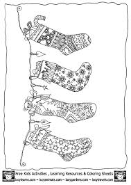christmas stocking coloring template collection www