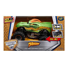 remote control grave digger monster truck new bright monster jam dragon remote controlled toy hayneedle