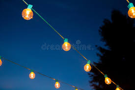 hanging strands of lights stock photo image of 35627544