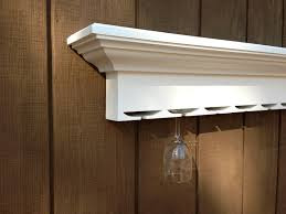 combination wall mounted wooden wine rack glass holder shelf dma