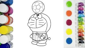 doraemon coloring pages for kids football coloring video new l
