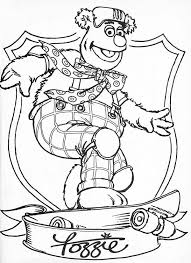 awesome fozzie bear muppets coloring pages bulk color