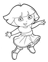 dora coloring pages for toddlers dora coloring pages joyful coloringstar colouring pages for kids