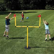 Football Field In Backyard The Winning Field Goal Backyard Goal Post Hammacher Schlemmer