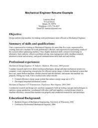 Resume For Mechanical Engineer Image Result For Mechanical Engineering Student Resume Resumes