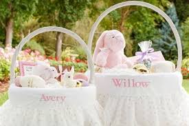 easter basket liners personalized personalized easter baskets for babies designcorner