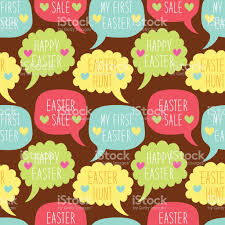 easter quotes cute easter quotes seamless pattern stock vector art 664938348