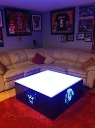 coffee table fascinating led coffee table ideas lighted bar