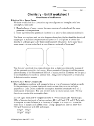 unit 5 worksheet 1 gases chemical compounds
