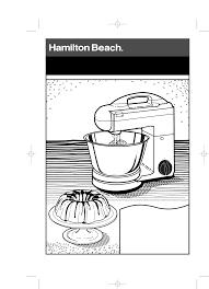 hamilton beach mixer 60695 user guide manualsonline com