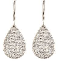 pear drop earrings irene neuwirth pavé white diamond pear shaped drop earrings
