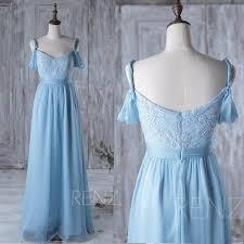 2016 light blue bridesmaid dress long white lace wedding dress