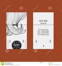 Hairdresser Business Card Templates Business Card Hairdresser Barber Stock Vector Image 39580286