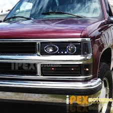 1998 chevy silverado tail lights 94 98 chevy c k1500 suburban 10pc projector led headlights tail