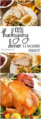 my thanksgiving easy thanksgiving dinner and shopping list