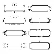 eight ornamental frames vector free