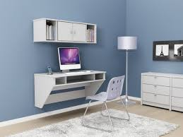 White Computer Desk Funiture Computer Desk For Home Ideas With Modern White Wall