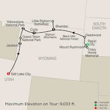 Salt Lake City Airport Map National Park Guided Tour Packages Globus