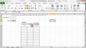Binomial Tables Binomial Probability Distribution Excel Part 1 Youtube