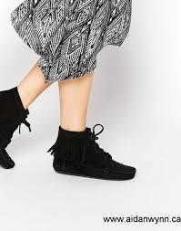 womens fringe boots canada now canada asos abbott suede fringe ankle boots black