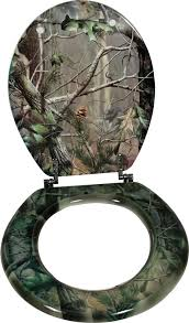 Camo Bathroom Sets Toilet Seat For The Outdoor Enthusiast