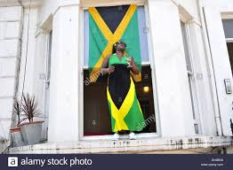 Flag Dress A Woman Wearing A Jamaican Flag Dress At The Notting Hill Carnival