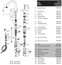 kitchen sink faucet parts diagram gerber 40 162 kitchen faucet parts