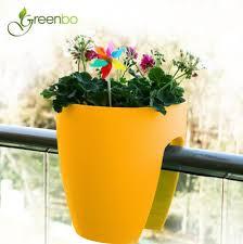 balkon blumentopf greenbo planter balkon pflanzgefäß gelb blumentopf günstig