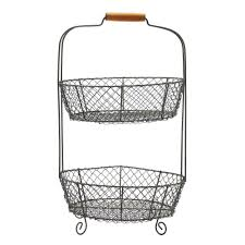 home decorators collection 21 in 2 tier wire basket 9306500270
