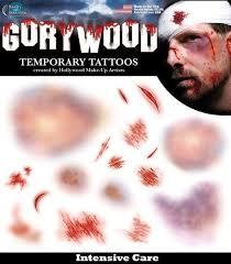 temporary tattoos costume horror gory makeup