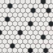white kitchen cabinets with hexagon backsplash black and white 1x1 hexagon matte 75 cabinets