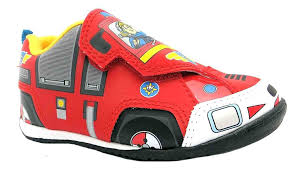 boys fireman sam jupiter red trainers amazon uk shoes u0026 bags