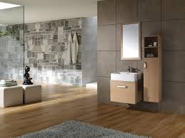 Beige Bathroom Designs by Wood Tile Bathroom Wall Beige Large Window Curtains Beside Raised