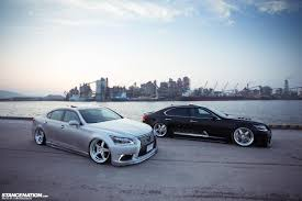 lexus hs 250h japan stance nations two amazing twin slammed vip ls460s clublexus