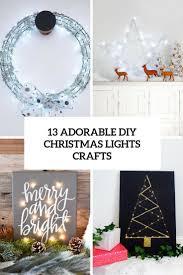13 adorable diy christmas lights crafts shelterness
