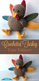 crocheted turkey for thanksgiving 5 monsters thanksgiving