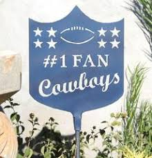 Dallas Cowboys Home Decor Metal Yard Decor Stakes Potted Plant Decorations Decorative Patio