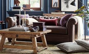 Decorating With Leather Furniture Living Room How To Decorate A Leather Pottery Barn