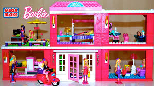 mega bloks barbie build n style fab mansion with lots barbie dolls
