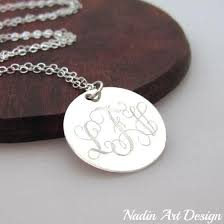 Custom Engraved Jewelry Silver Necklaces Customized Sterling Silver Necklaces Nadin