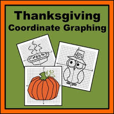 thanksgiving coordinate graphing planes pilgrim and pictures